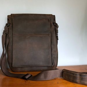 SF Bags Leather Unisex Computer Messenger Bag